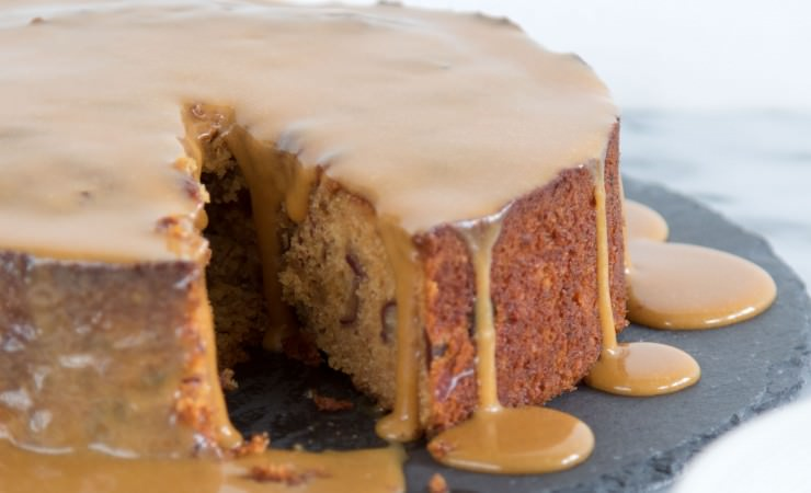 Sticky toffee-koffiepudding