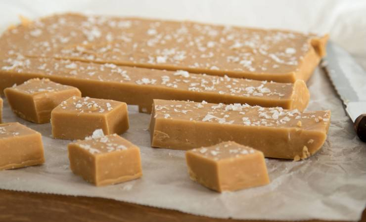 fudge met gezouten karamel