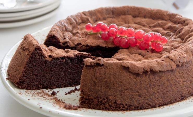 Cacaofudgecake zonder bloem