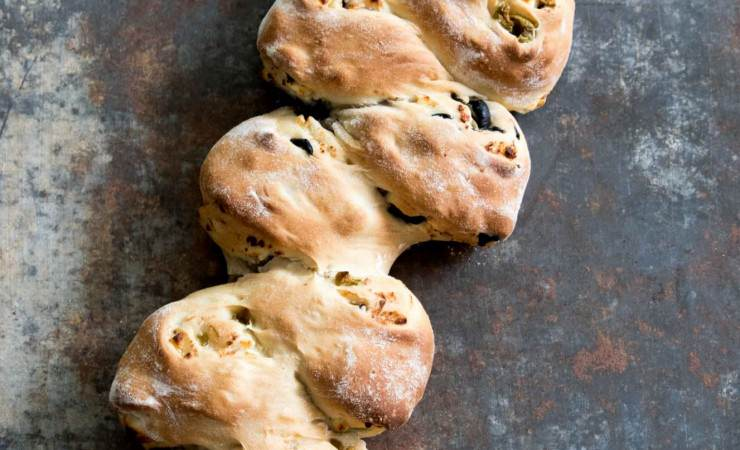 Brood met olijven en feta