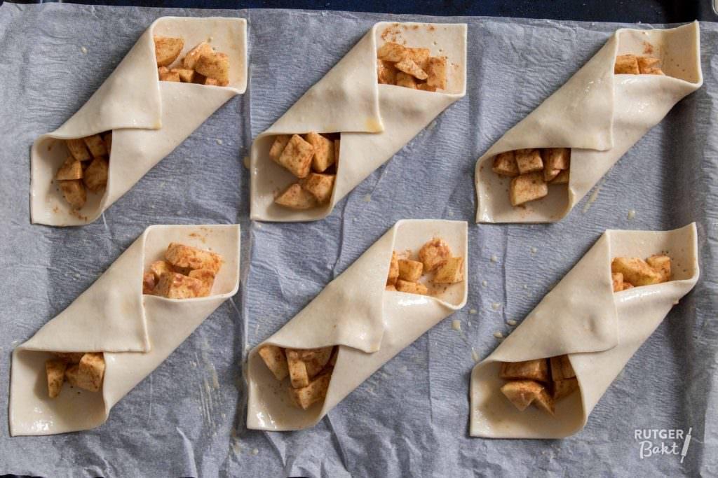 Snelle bladerdeeg appeltaart