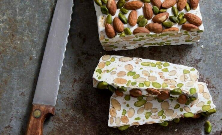 Nougat met amandel en pistache