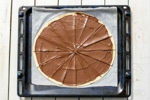 Opgerolde koekjes met nutella
