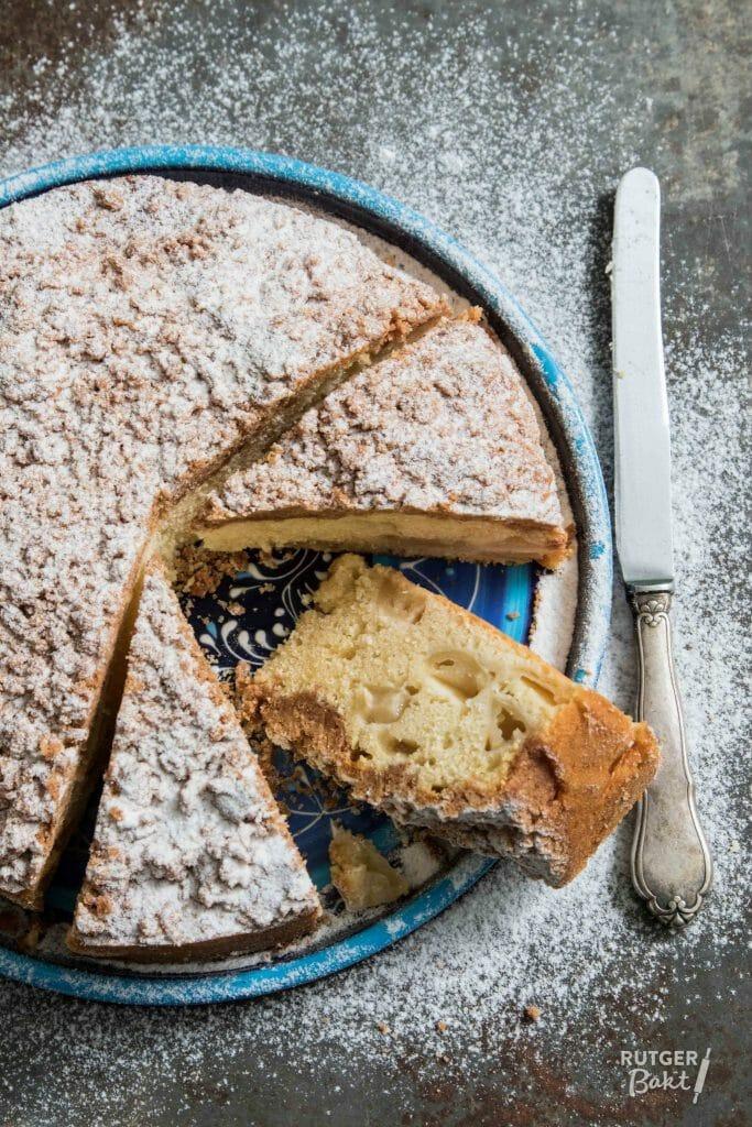Appel kruimel cake