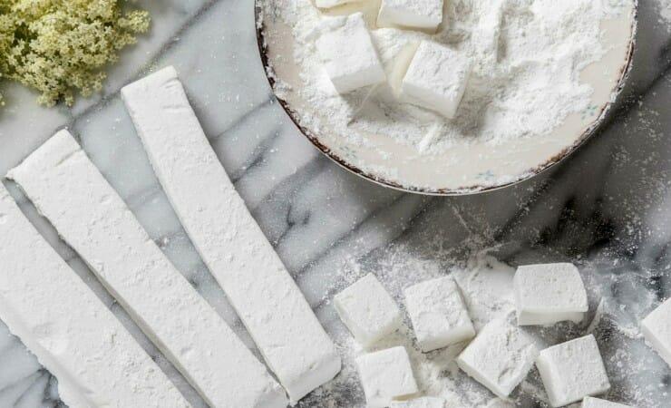 Vlierbloesem marshmallows maken